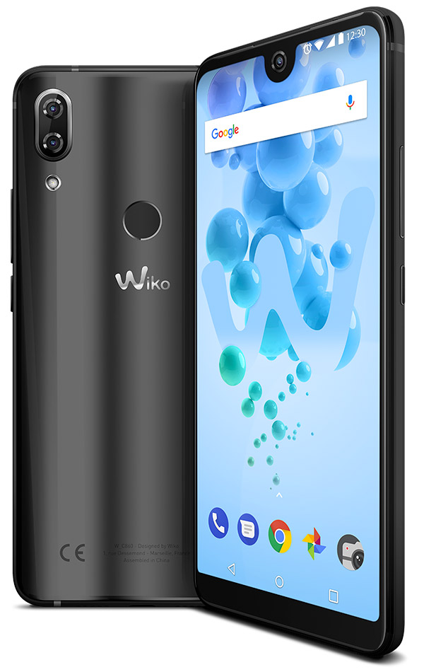 screen and side display of the mobile View 2 PRO
